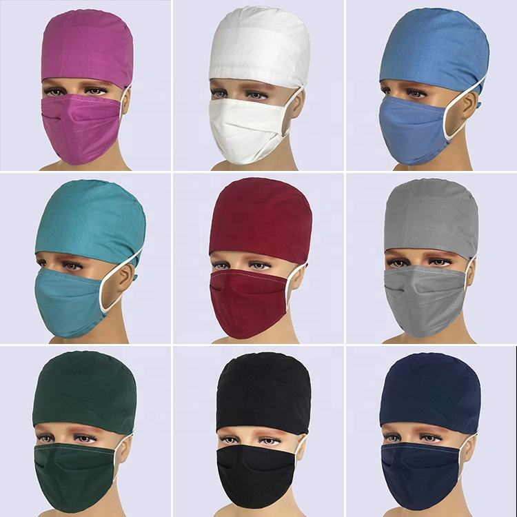 Hospital Solid color hats Men and Women General Pure Cotton Operating Room hat for Spring and Summer Chemotherapy Cap for Doctor