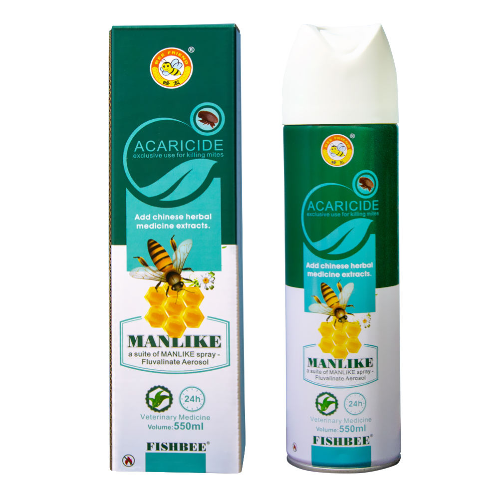 Fishbee acaricide 550ml MANLIKE spray Fluvalinate Aerosol exclusive use for killing varroa mites with imported raw materials