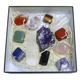 Wholesale charms 7 chakras reiki healing crystals stones jewelry box set for gift