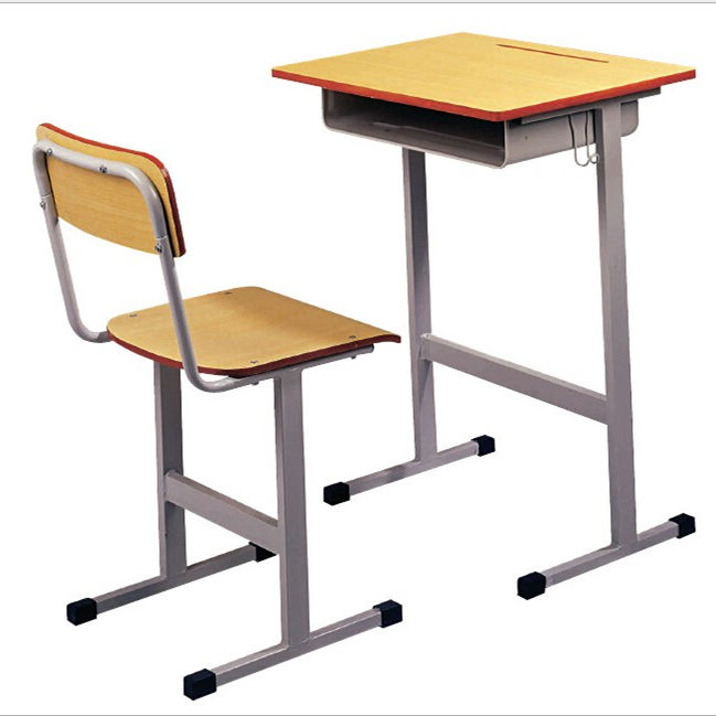 New Popular School Classroom Furniture Single Student Desk And Chair Training Table