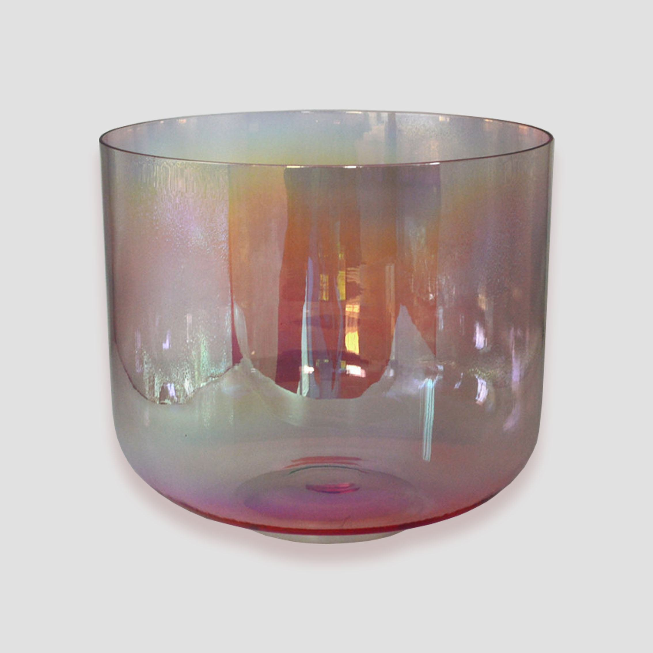 "Alchemy Rose Pink Crystal Singing Bowls 5""-12"" Chakra Tuned 3rd 4th Quartz Sound Bowls for Healing Sound Bath"