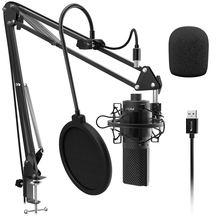 Fifine Condenser USB Microphone Desktop Mac Recording Studio Microphone for Computer Laptop Microphone