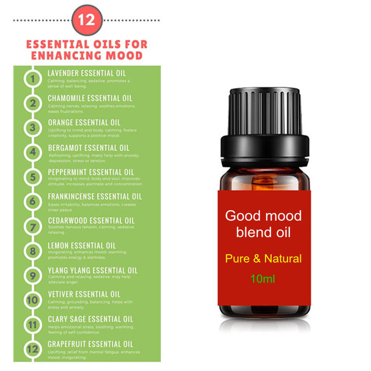 Boosting mood essential oil uplifting mood blend essential oil for good mood happy day 10ml OEM Private Label