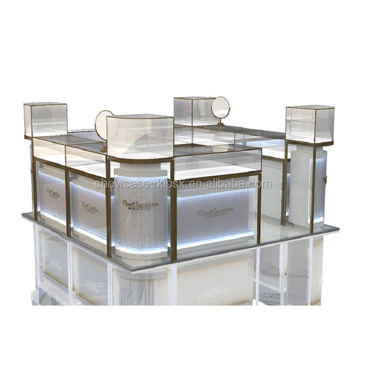 Jewelry kiosk in galleria mall | jewelry glass display stands furniture design for sale