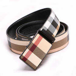 Fashion Grid Genuine Automatic Leather Belts For Men