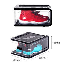 2019 new nike shoes high quality custom acrylic transparent stackable shoes display box