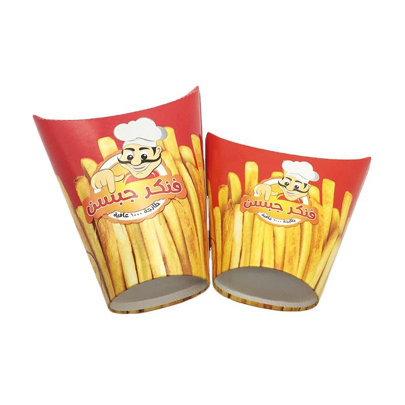 OEM Design Chips Packing Box Disposable Paper Cup Wholesale French Fries Box