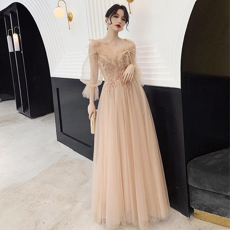 2020 High Quality Europe Style Hot Party Dress Wholesale Elegant Lace Evening Dress