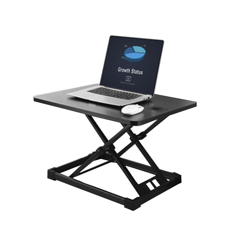 Compact laptop table office sit stand desk height adjustable sit standing desk converter