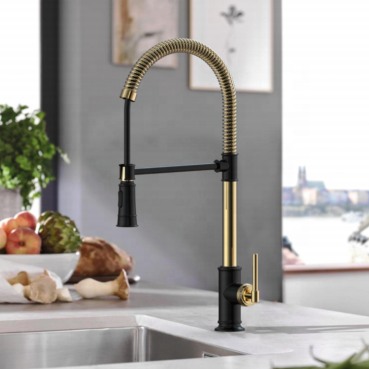 Hot And Cold Water Kitchen Tap Brass Gold Kitchen Sink Faucets For Kitchen Sink