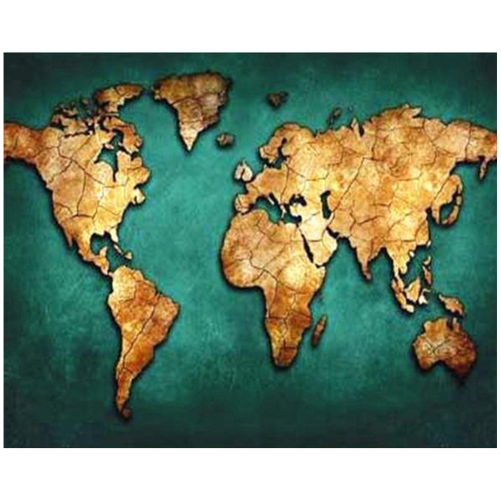 Diamond mosaic Embroidery World Map Needlework handmade painting 5D Diamond Painting Cross Stitch canvas print Wall Art picture