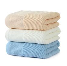 Wholesale bamboo material thick face towel for spa