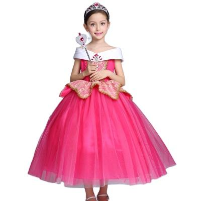 2020 Baby Girl Dress Party Disny Movie Dress Up Halloween Kids Costume Beast Snow White Rapunzel Auraro Princess Dress