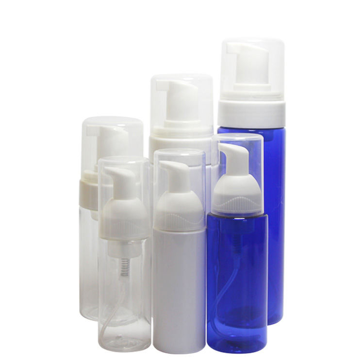 Facial cleanser 30ml 50ml 100ml 150ml 200ml clear white PET plastic mousse foam pump bottle