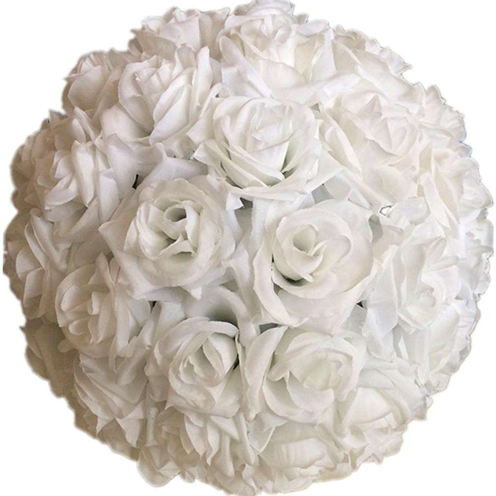 30cm Diameter Hanging Decorative Flower Artificial Silk Rose Wedding Kissing Balls Pomanders Mint Wedding Decoration Flower Ball