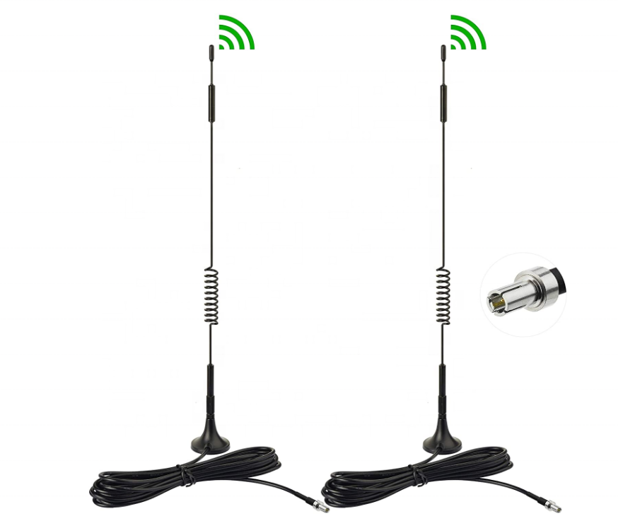 Dual band GSM WIFI 3G 4G LTE antenna high gain 12dbi spring wifi antenna with s m a male