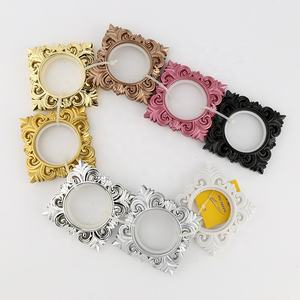 Trendy style custom design fancy rings round plastic curtain eyelet ring