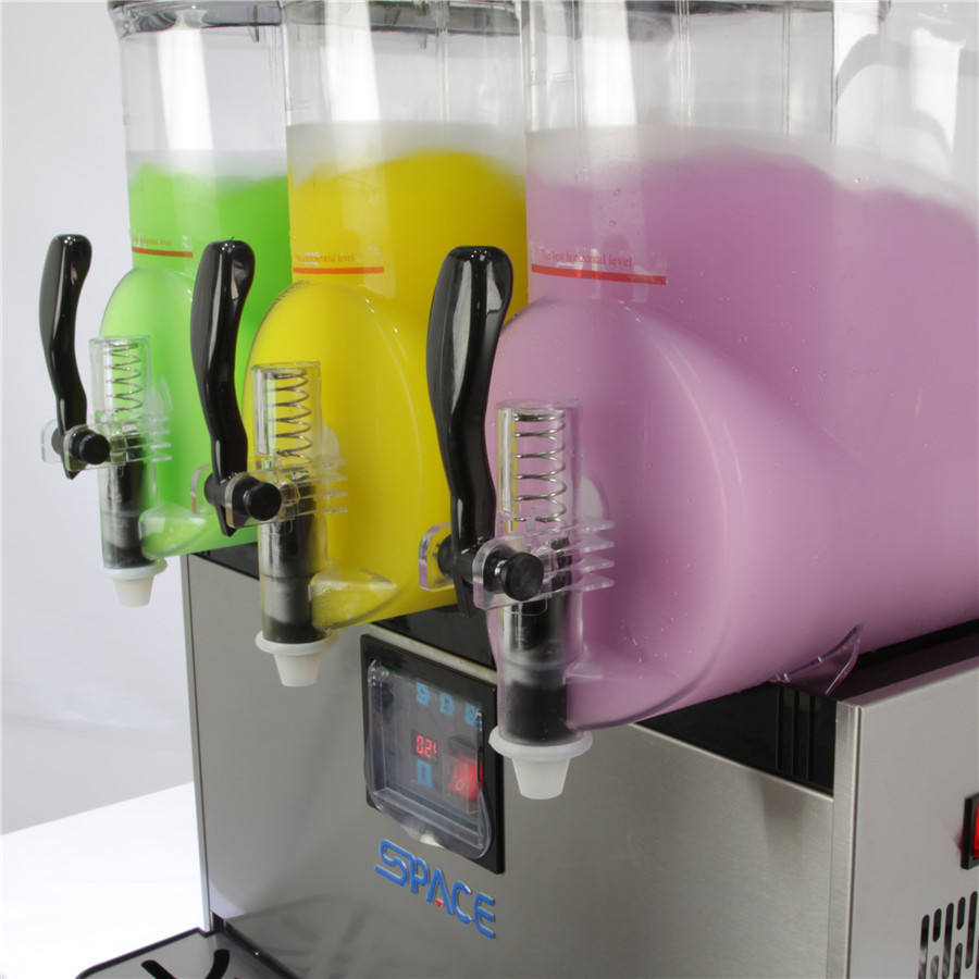 304 Stainless Steel 3 flavors xrj 15Lx3 commercial 900w slush machines