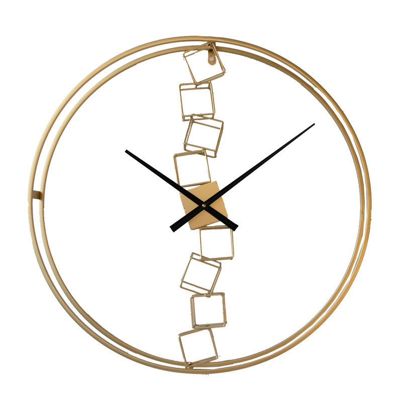 Home Decor Art Accessories Pieces Luxury Nordic Gold Modern Room Metal style frameless decorative wall clock