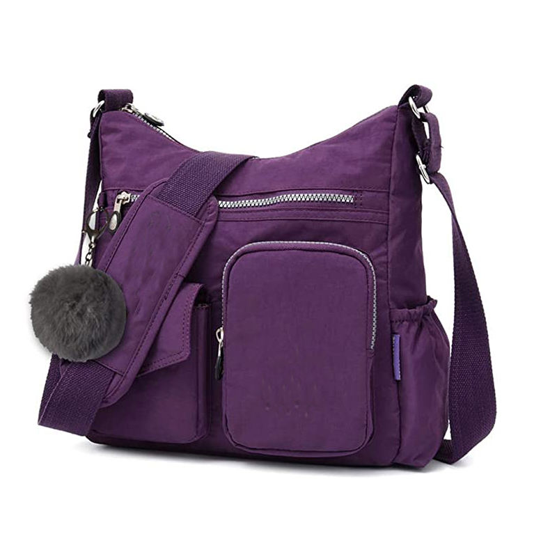 Nylon Crossbody Bag for Women with Anti-theft RFID Card Slot-Water resistant Shoulder Bag Travel Purses and Handbag