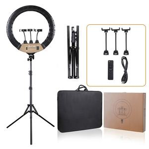 18 inch Ring Light 80W Photo Studio Portable Photography Ring Light LED Video Light with tripod stand