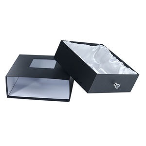 personalized Custom luxury Sliding Out Drawer Box Fancy Gift Box for Belt Bow Tie silk scarves Gift Packaging boxes