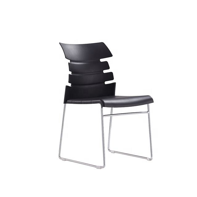 Commercial meeting room guest chairs conference plastic student training chair armless stackable office visitor chair