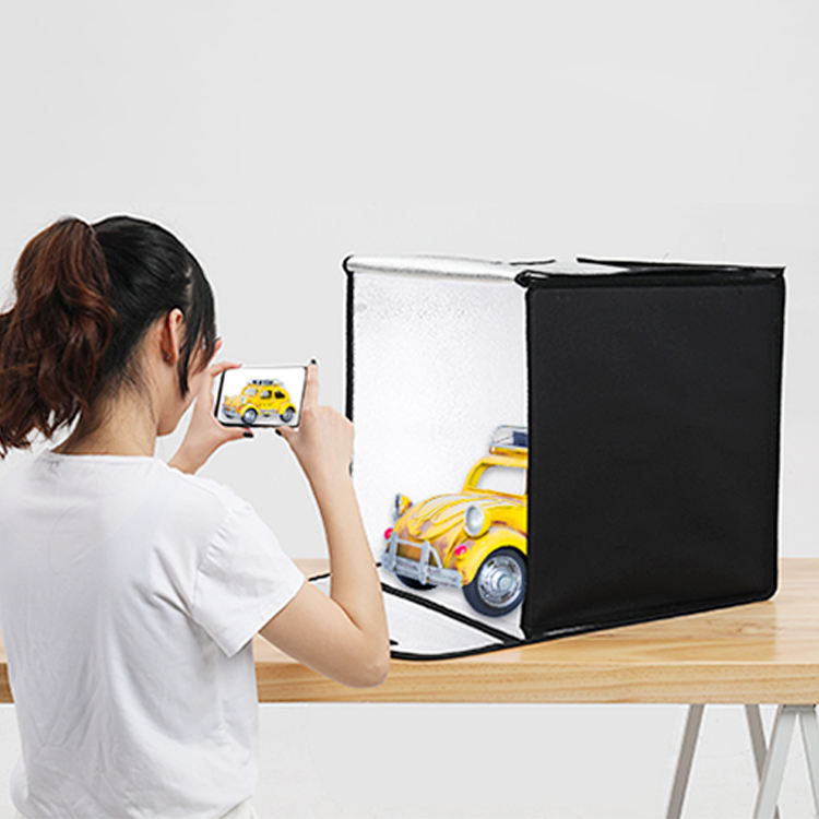 BKL 40cm Foldable photostudio accessories portable LED photography lightbox photo lighting equipment DC12V