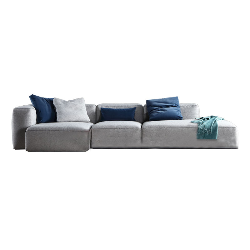 Corner fabric sofa L-shaped sofa bed living room furniture factory direct supply and affordable