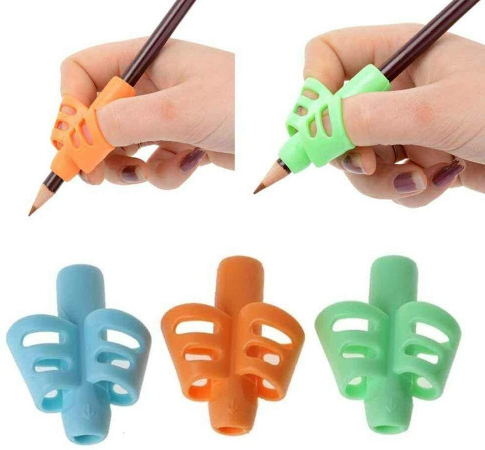 2/3 Finger Grip Pencil Holder Silicone Pencil Grips Children Learning Writing Correction Tool for Middle High School Student