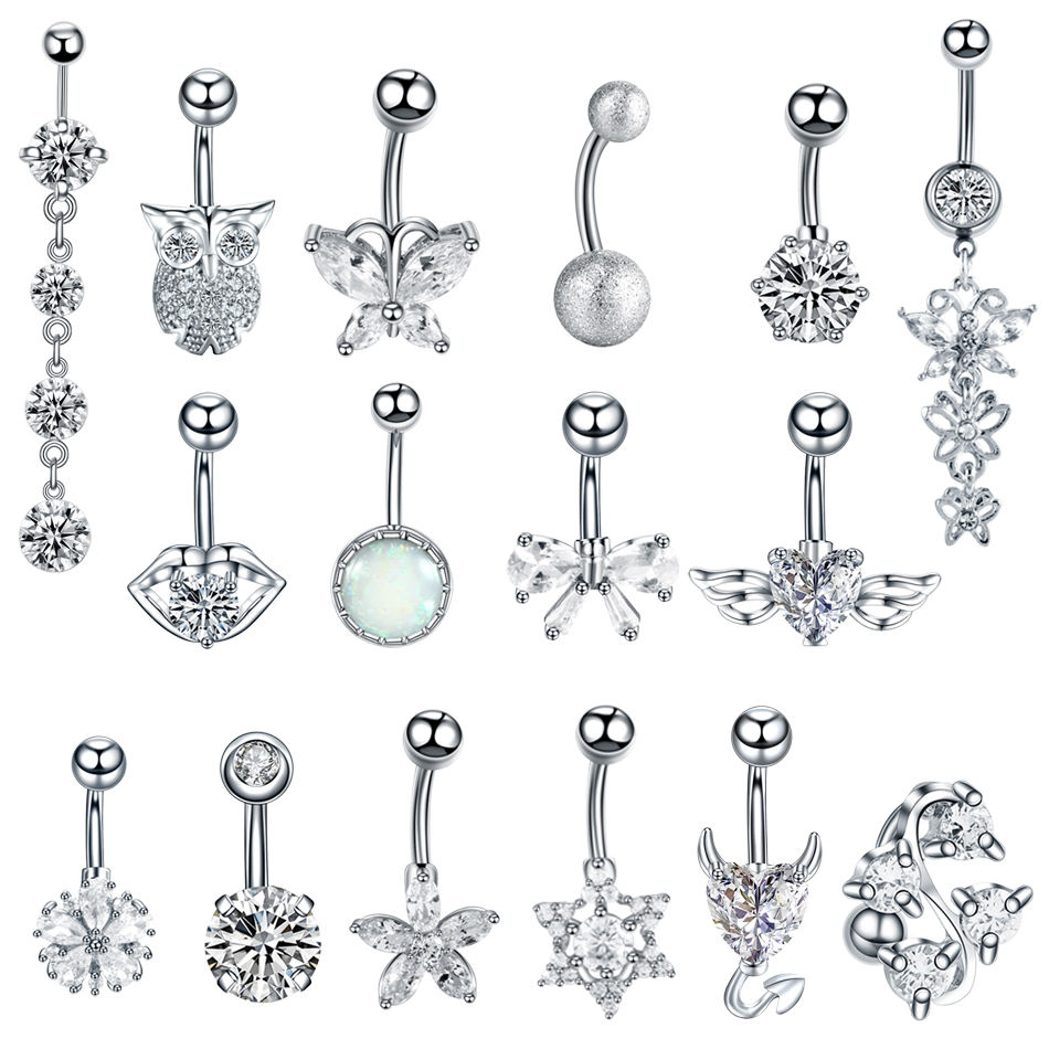 1PC Steel Sexy Belly Button Rings Navel Piercing Ombligo Nombril Ear Piercings Navel Ring Body Jewelry