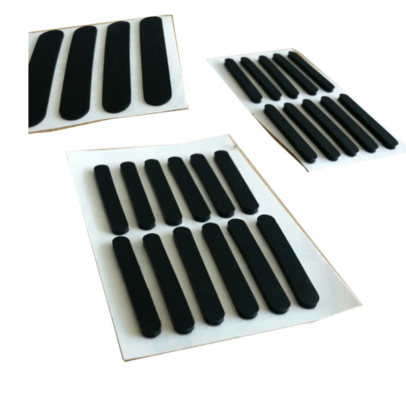 Customized Hemisphere Bumper Non-Skid Self Adhesive black gray white texture rubber silicone feet pad