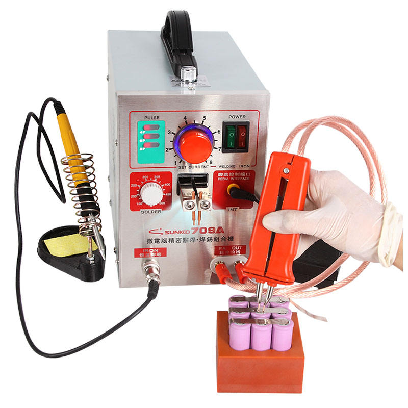 2 in 1 3.2kw Pulse Spot Welder S709A Battery spot Welding Soldering Machine with 70B welding pen +100pcs Nickel sheets