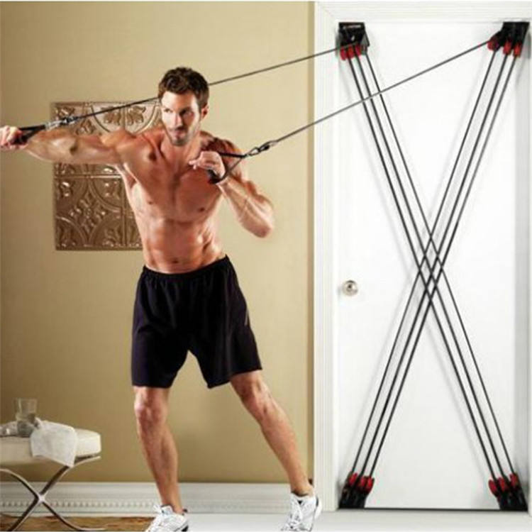 fitness strength training pull rope home door gym equipment resistance band x factor plus exercise rubber bands kit