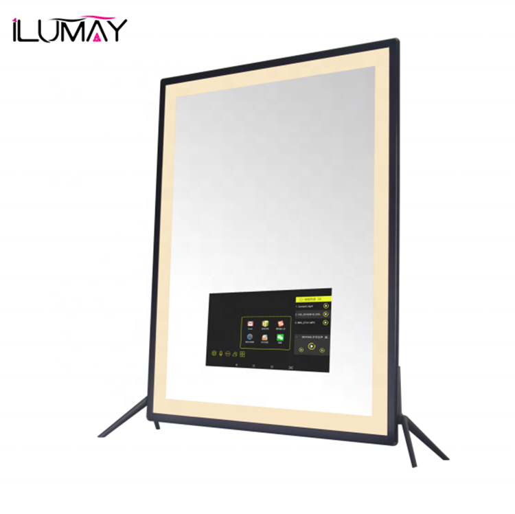 ILUMAY wholesale android smart magic mirror with touch screen bluetooth advertising WIFI functions