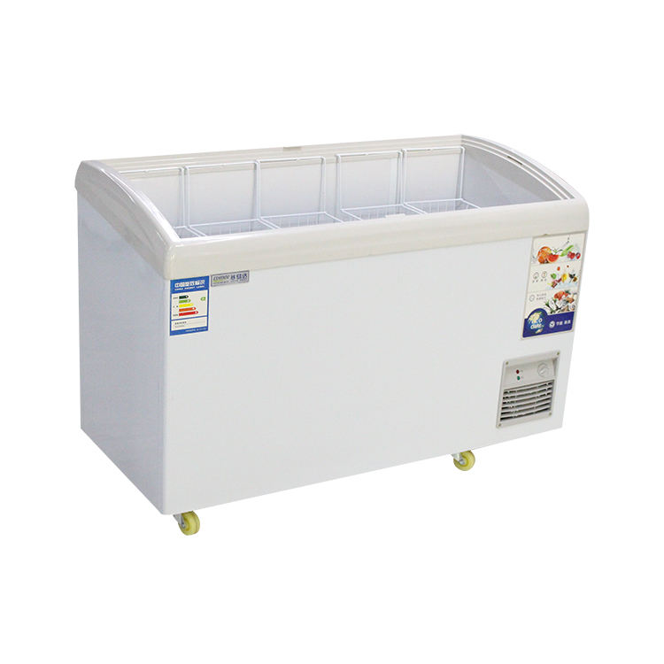 Di vendita superiore porta scorrevole in vetro mini ice cream ice cream display freezer