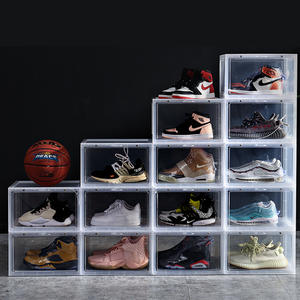 Acrylic Clear Stackable Storage Transparent Shoe Box Plastic Nike Sneaker Storage container