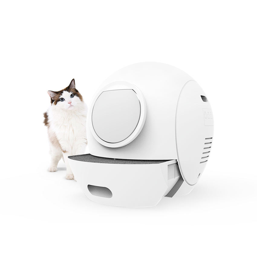 luxury large enclosed portable automatic cat litter toilet furniture auto smart intelligent self cleaning cat litter box for cat