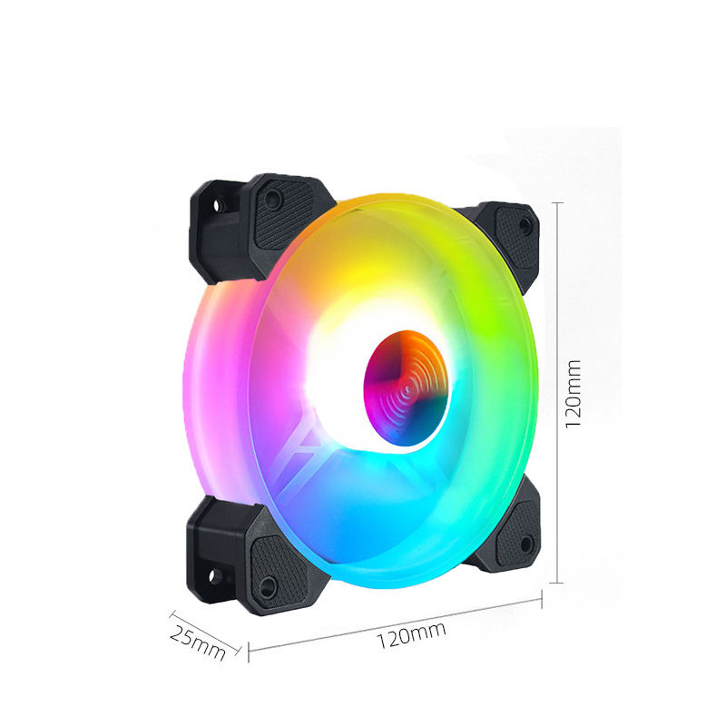 12CM control rgb RGB color changing LED Symphony cooling mute computer fan