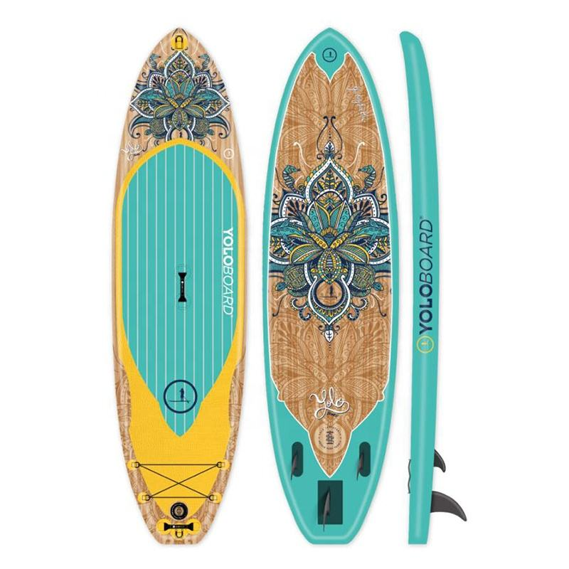 Hot sale inflatable sup board standup paddle cheap inflatable sup paddleboard paddle