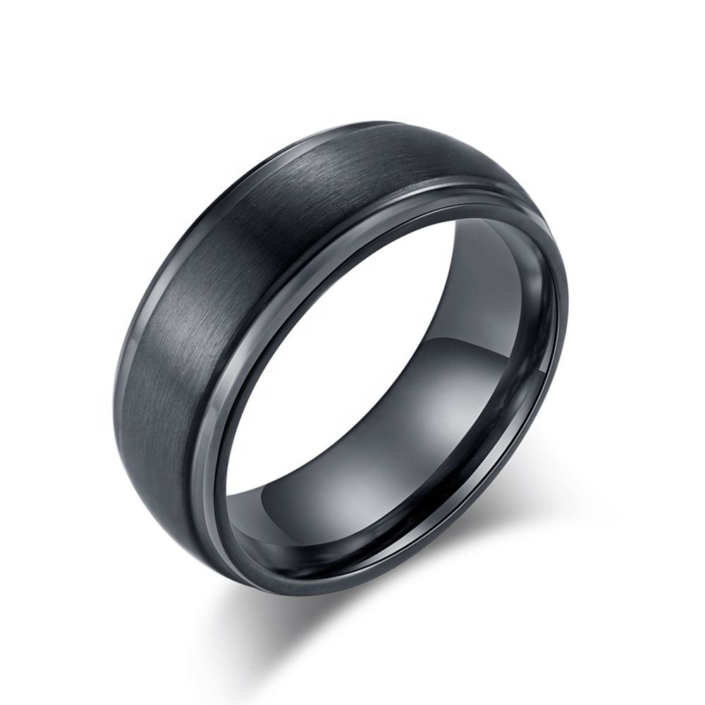 Nieuwe Collectie Simple Wedding Band Matte Zwarte Mannen Tungsten Carbide Ring