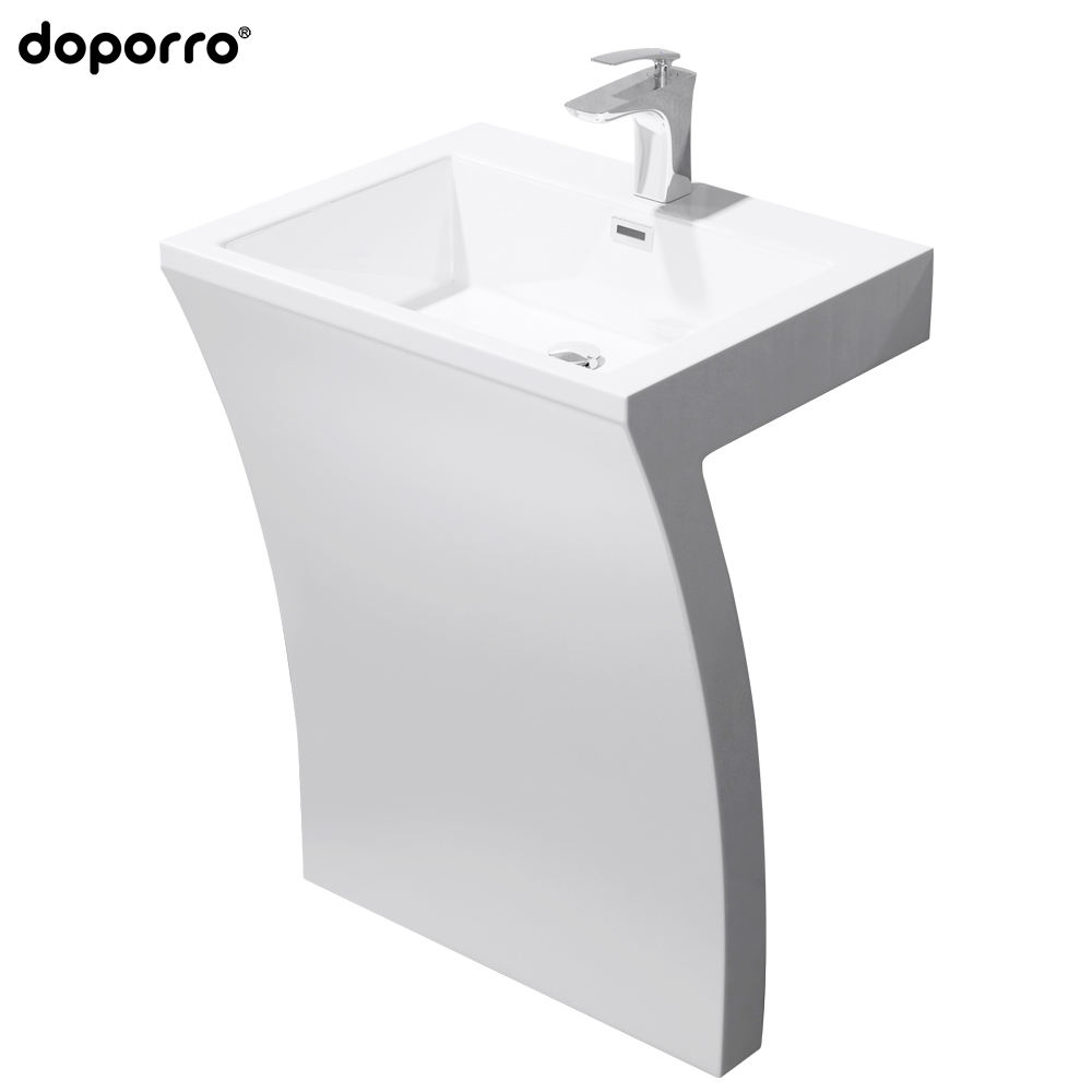 Artificial stone washing basin sanitary ware wall hung acrylic bathroom sink