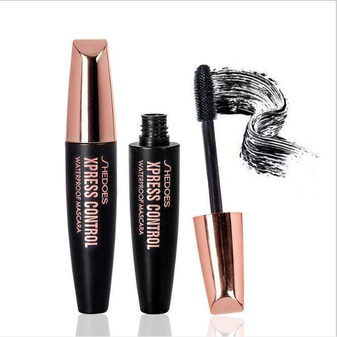 Wholesale custom private label waterproof volumizing 4D silk fiber eyelash extension mascara