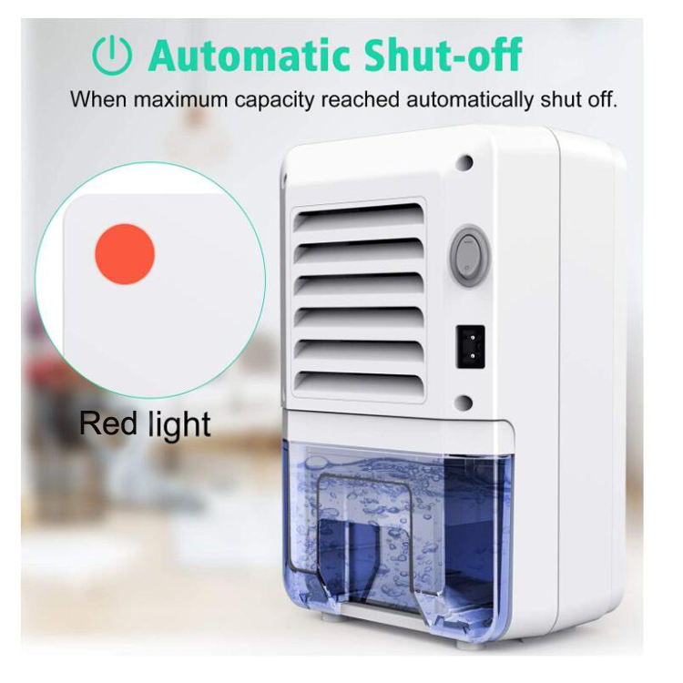 Auto Shut Off 800ml 27 Oz Portable 1500 Cubic Feet Compact Electric Mini Dehumidifier For Home Bedroom Office Bathroom