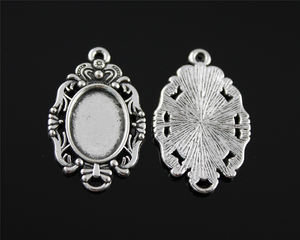 Sliver Plated Zinc Alloy Metal Charming Pendant For DIY Earrings Necklace Jewelry Making Accessories