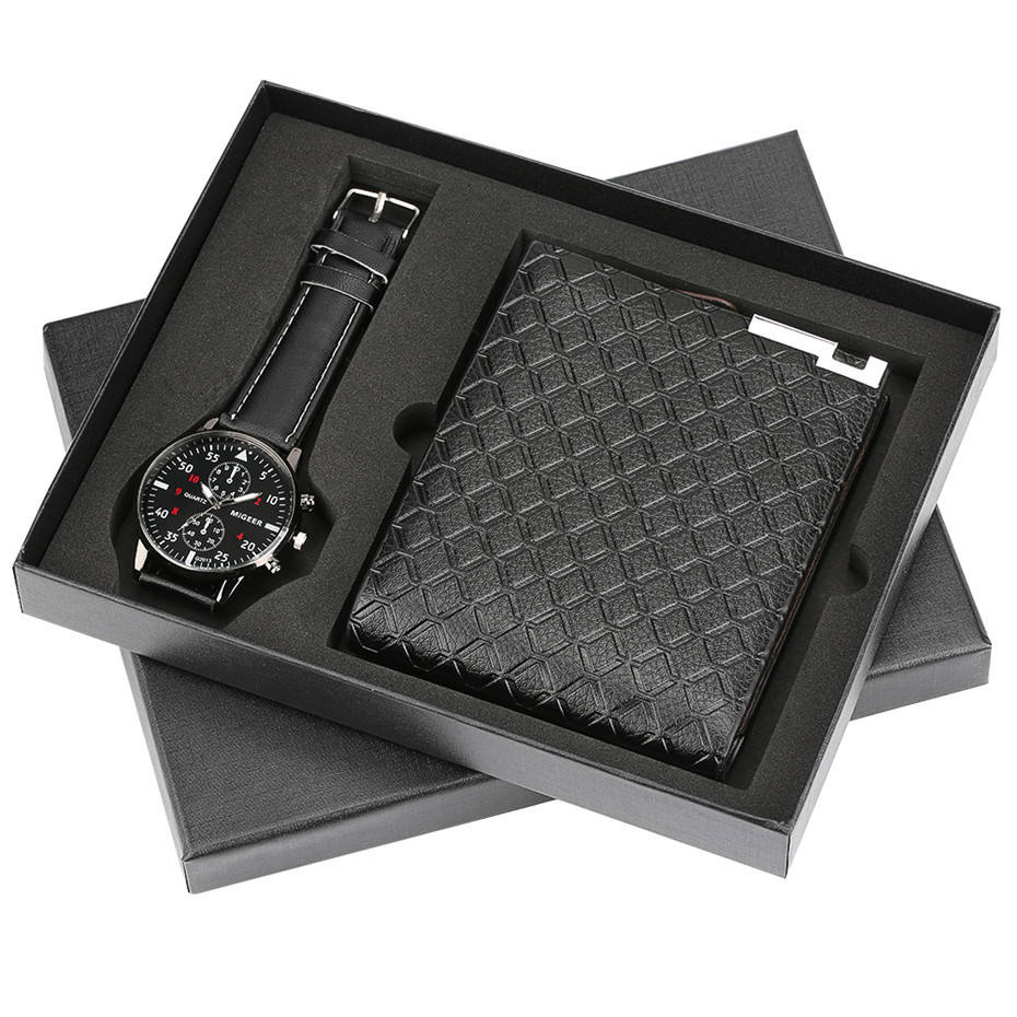Men's Gift Set Exquisite Packaged Watch + Wallet Set Foreign Trade Hot-money Creative Combination Set