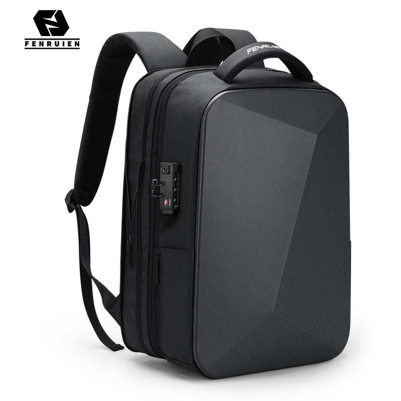 FENRUIEN Wholesale Supply Hard Shell expansion Backpack USB charging Waterproof 15.6 inch Laptop Anti-theft Backpacks With Lock