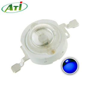 455-460nm MAX Bright 3W Cyan Blue High Power LED 50lm Epileds 45X45 ชิป