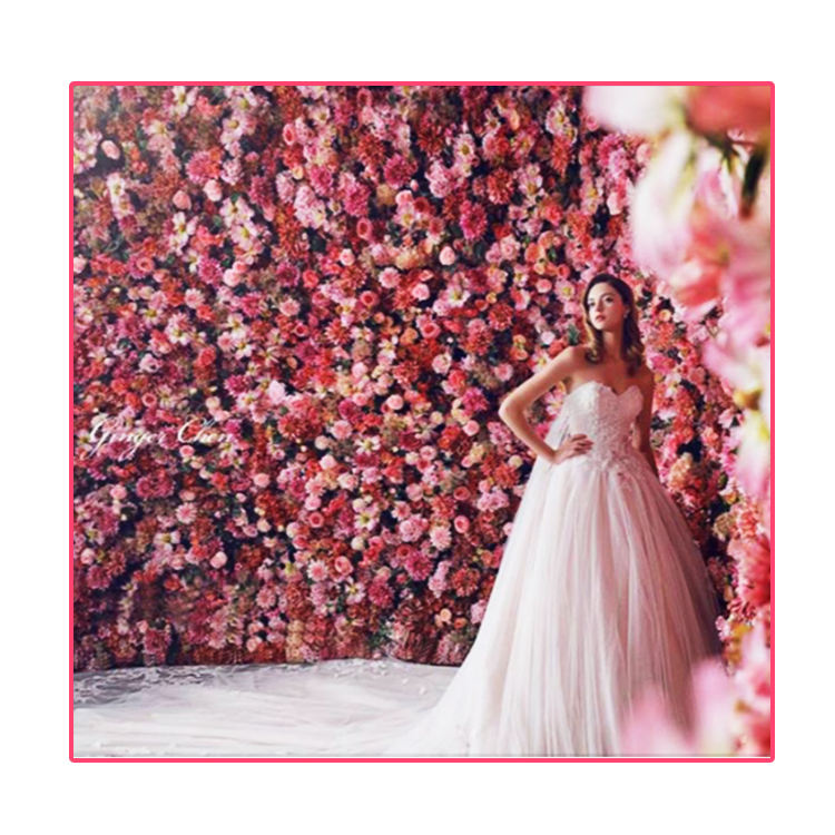 Cheap artificial silk flowers wall wedding backdrops for wedding decoration