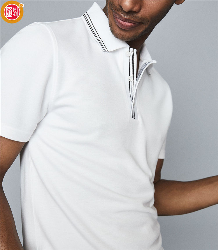 Men 100% Cotton Summer White Short Sleeve Camisas Hombre Polo T Shirt OEM Models Original Polo Shirts